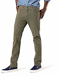 cheap -men's slim fit smart-jean cut 360 flex pants, earth moss, 36w x 32l