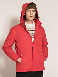 cheap -Men's Hiking 3-in-1 Jackets Winter Outdoor Solid Color Thermal Warm Waterproof Windproof Fleece Lining Winter Jacket Top Fleece Hunting Fishing Climbing China Red [Female] China Red [Male] Retro