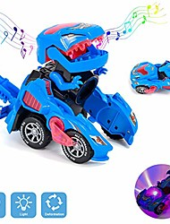 cheap -transforming dinosaur toys ,dinosaur transformer toy car with led light and music automatic for kids christmas birthday gifts - blue