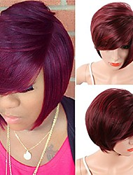 cheap -halloweencostumes women's short straight pixie cut synthetic wigs african american bob hair with bangs