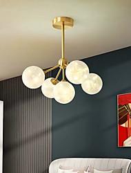 cheap -43cm LED Pendant Light Modern Nordic Globe Desgin Living Room Bedroom Flush Mount Lights Copper Brass 110-120V 220-240V