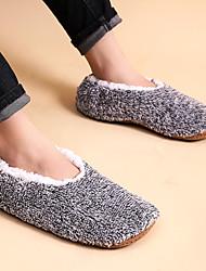 cheap -Men's Unisex Slippers & Flip-Flops Casual Home Faux Fur Warm Dark Grey Light Grey Gradient Fall Winter