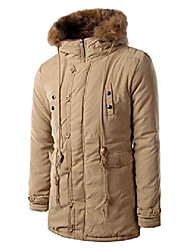 cheap -men's winter thick sherpa lined hooded parka jacket down alternative coat (x-small, khaki)