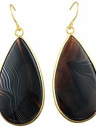 cheap -women's stripe agate dangle round teardrop earrings