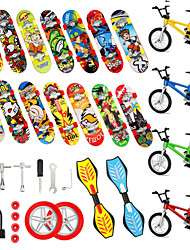 cheap -29 pcs Finger skateboards Mini fingerboards Finger bikes Finger Toys Plastics Alloy Office Desk Toys with Replacement Wheels and Tools Party Favors Kid's Adults All Party Favors  for Kid's Gifts