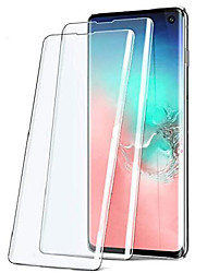 cheap -galaxy s10 screen protector 2 pack, 9h tempered glass 3d curved coverage anti-fingerprint no bubbles case friendly hd clear replacement film compatible for samsung galaxy s10 6.1 inch