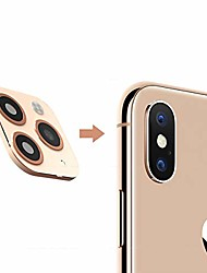 cheap -realistic stereoscopic aluminum alloy back camera lens protector film for iphone x/xs/xs max change to iphone 11 pro/11 pro max, hd anti-scratch camera tempered glass screen protector (gold)