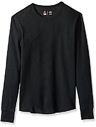 cheap -men's basic long sleeve knit, black, xl