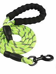 cheap -leads dog lead shock absorbing anti-pull leash | with comfortable foam padded handle | reflective material for night time walks | suitable for all dog breeds | ideal for runners (green)