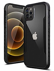 cheap -compatible with iphone 12 pro case / 12 case,edge shockproof [military grade drop tested] back clear cases.durable metal anodized aluminum frame+flexible tpu+pc protector,6.1 inch,black
