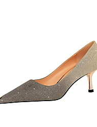 cheap -Women's Heels Stiletto Heel Pointed Toe Casual Daily Walking Shoes Gleit Champagne Silver Gray / 2-3