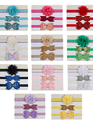 cheap -3pcs Toddler / Infant Girls' Active / Sweet Cartoon Bow Hair Accessories White / Blue / Purple One-Size