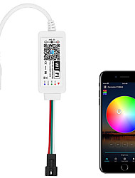 cheap -WS2811 Controller Smart WiFi APP Voice Control Support Amazon Alexa Google Home for DC12V24V WS2811 SM16703 UCS1903 Addressable RGB LED Strip LED Pixel String Light (Not for 5V WS2812B)