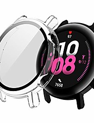 cheap -screen protector case compatible with huawei watch gt2 42mm&46mm with hd tempered glass case cover, [plating metal color frame] [3d full coverage] shell protective (transparent, gt2 46mm)