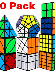 cheap -Speed Cube Set 10 pcs Magic Cube IQ Cube 2*2*2 3*3*3 4*4*4 Speedcubing Bundle Stress Reliever Puzzle Cube Speed Adorable Kid's Toy Gift