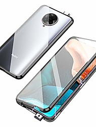cheap -compatible with xiaomi poco f2 pro/redmi k30 pro case,  360 degree front and back transparent tempered glass cover, strong magnetic adsorption technology metal bumper for k30 pro (black)
