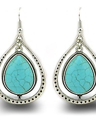 cheap -vintage alloy synthetic turquoise necklace fashion jewelry women (189)