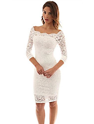 cheap -women's elegant long sleeve off shoulder lace dress bodycon cocktail party wedding dresses xx-large lavender