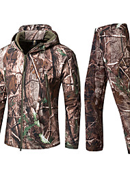 cheap -men outdoor waterproof softshell jacket military camouflage suit hiking hunting tactical fleece jacket and pants army green m