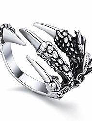cheap -fashion vintage women men's opening eagle talon rings mystery jewelry gothic punk antique eagle claw ring jewelry (silver-b)
