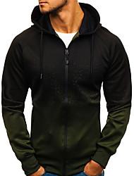 cheap -mens full-zip hooded sweatshirt- long sleeve athletic printing fashion casual t-shirts grey
