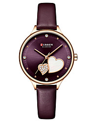 cheap -CURREN Women's Quartz Watches Analog Quartz Modern Style Stylish Casual Water Resistant / Waterproof Shock Resistant Casual Watch / One Year / Genuine Leather / Japanese