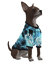 cheap -Dog Shirt / T-Shirt Graphic Optical Illusion 3D Print Exaggerated Casual / Daily Dog Clothes Puppy Clothes Dog Outfits Breathable Blue Costume for Girl and Boy Dog Polyster S M L XL