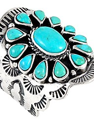 cheap -sterling silver genuine gemstones & turquoise (select color) (turquoise, 8)