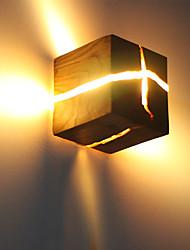 cheap -Split Wood Wall Lamp Nordic Bedside Lamp Log Split Aisle Lamp Decorated Nightlight Hotel Solid Wood Wall Lamp