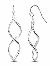 cheap -sterling silver jewelry wire figure eight dangler earring for women
