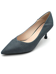 cheap -Women's Heels Stiletto Heel Pointed Toe Classic Daily PU Solid Colored Almond Black Blue / 2-3