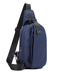 cheap -Men's Bags Oxford Cloth Sling Shoulder Bag Chest Bag Zipper Fashion Date Office & Career Baguette Bag MessengerBag Black Blue Gray