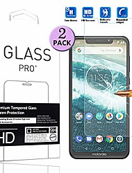 """cheap -compatible with motorola one power tempered glass screen protector - [2 pack] smartphone protective film for motorola one power/motorola p30 note 6.2"""" 2018"""
