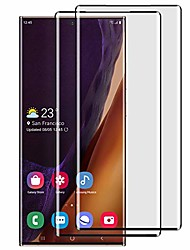 cheap -samsung galaxy note 20 ultra screen protector, tempered glass [support fingerprint scanner][full coverage] [hd clear] [no bubble] protection film for galaxy note 20 ultra (2 pack)