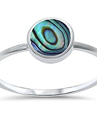 cheap -sterling silver bezel abalone shell ring sizes 7