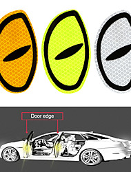 cheap -LEEPEE 2 Pieces Big Eye Car Reflective Stickers Warning Tape Reflective Strips Safety Mark Car Door Bumper Sticker Accessories