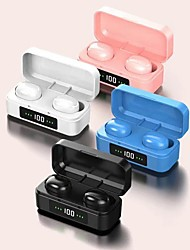cheap -TWS Bluetooth 5.0 Earphones Wireless Earbuds With LED Digital Display 3D Stereo Sound Waterproof With Charging Box For Phone Xiaomi Huawei Samsung
