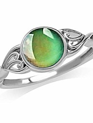 cheap -travet color change mood rings emotion feeling temperature rings faux gem round stone ring,no9