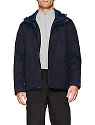 cheap -feel warm flat men's jacket,black/blue, manufacturer size:54