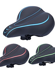 cheap -bike seat, most comfortable bicycle seat memory foam waterproof bicycle saddle - dual shock absorbing - best stock bicycle seat replacement for mountain bikes, road bikes