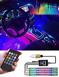 cheap -car lights interior,led strip lights for cars waterproof 4pcs 48 led app controller lighting kits, multi diy color music under dash car lighting with car usb charger,dc 12v