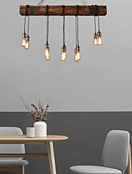 cheap -10-Light 118 cm Creative Chandelier Wood / Bamboo Industrial Painted Finishes Country 110-120V 220-240V