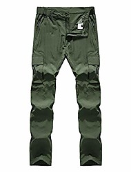 cheap -men's outdoor quick dry pants elastic waist lightweight breathable hiking mountain trousers with zipper pockets #999-army green,xxl 30