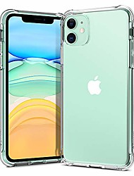 cheap -solid flex crystal for apple iphone 11 case (2019) - crystal clear