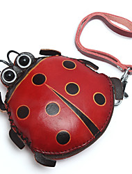 cheap -Women's Bags Cowhide Coin Purse Wallet Wristlet Bag Pattern / Print Animal 2021 Shopping Daily Red