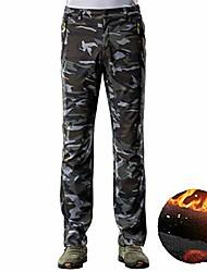 cheap -winter men casual thick warm elastic waist camouflage cargo inside fleece army trouser camo jogger green fleece xl