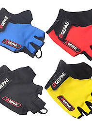 cheap -QEPAE Bike Gloves / Cycling Gloves Anti-Shake / Damping Wearable Skidproof Fingerless Gloves Sports Gloves Black Yellow Red for Adults' Road Cycling Outdoor Exercise Multisport