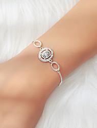 cheap -Women's Bead Bracelet Single Strand Fashion Luxury Rhinestone Bracelet Jewelry Silver For Prom