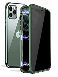 cheap -privacy magnetic case for iphone 11 pro max, anti peeping magnet case [magnet metal bumper] [clear double sided tempered glass ] 360 full protective anti-spy phone case for iphone 11 pro max