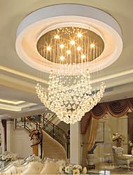 cheap -80 cm LED Crystal Chandelier Lantern Desgin Flush Mount Lights Stainless Steel Electroplated Modern 110-120V 220-240V
